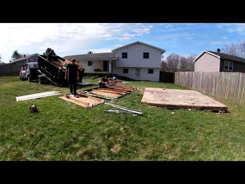 Demolishing a Shed in Scranton, PA