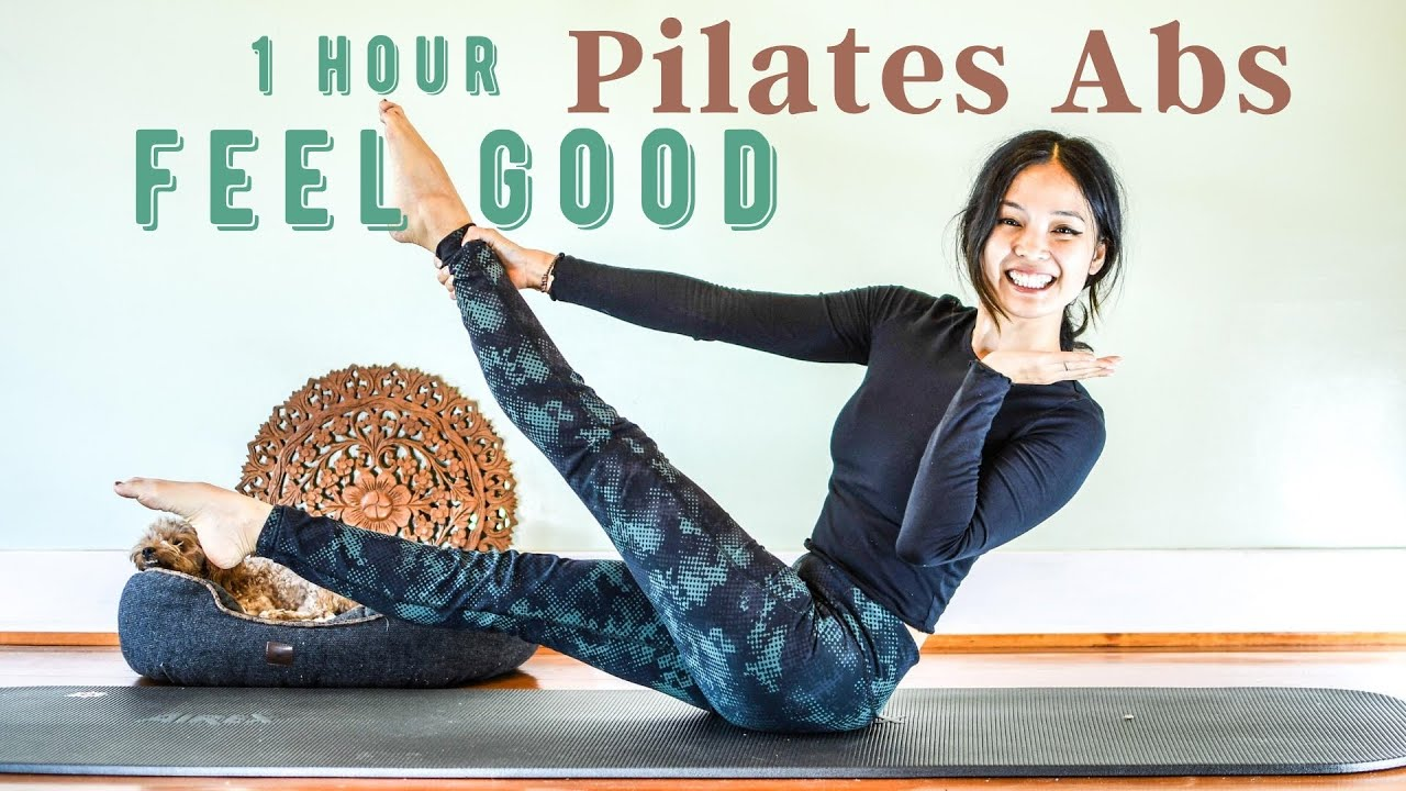 1 Hour Abs Pilates Workout | Feel Good At Home