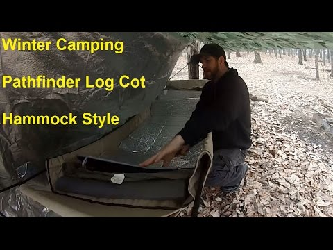 Tarp and Canvas Hammock Winter Set-up & Tarp and Canvas Hammock Winter Set-up - YouTube