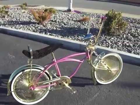 Pink Gold Superwheel Lowrider Bike Youtube