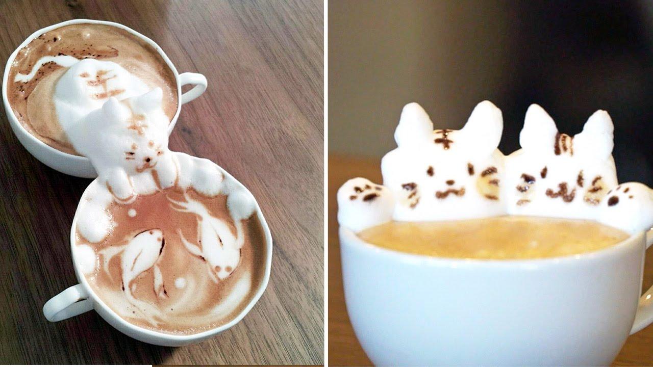 creative barista designs amazing 3d latte art youtube. Black Bedroom Furniture Sets. Home Design Ideas