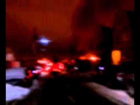 Bayonne trailer court fire.