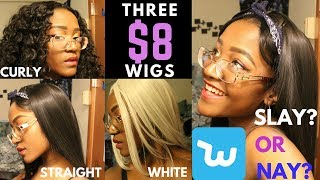 I Bought $8 WIGS From WISH … SLAY or NAY !?!?