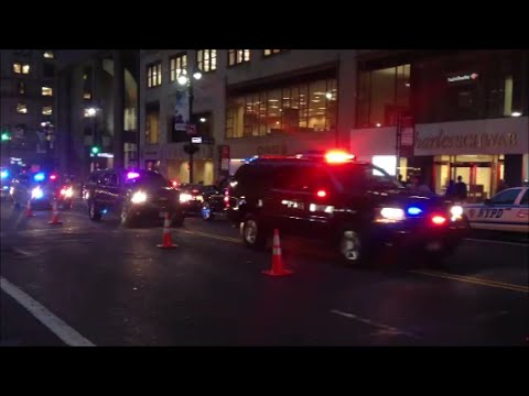 Compilation of United States Secret Service & NYPD Providing Motorcade Escorts In New York City