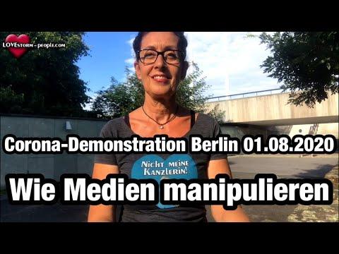 #Corona #Demonstration #Berlin von #Querdenken711 - Wie #Medien manipulieren