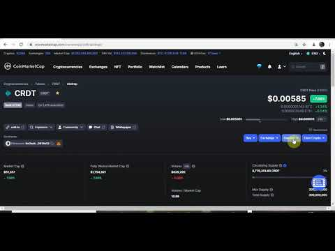 Claim $3000 Worth Of CRDT Airdrop On Coinmarketcap N Ow Fast And Free Airdrop Alert | Latest Airdrop