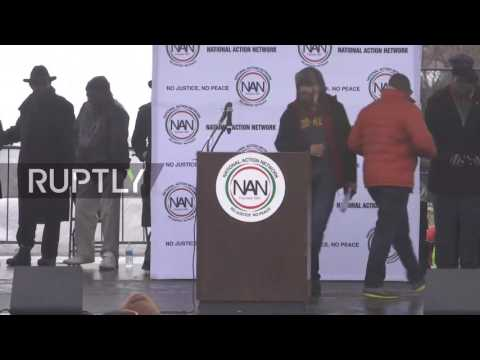 LIVE: Al Sharpton leads rally in Washington DC ahead of Trump's inauguration