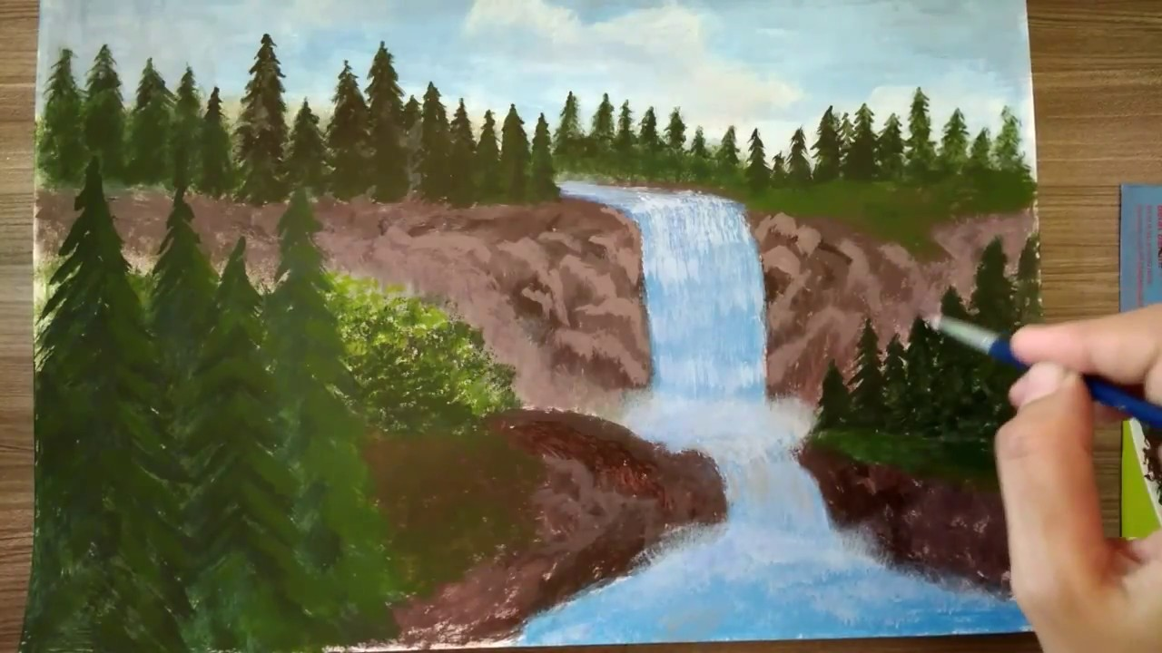 64 Koleksi Lukisan Pemandangan Air Terjun Di Dunia Gratis