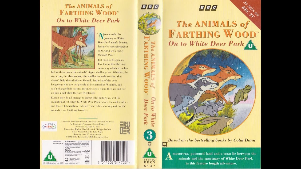 Download The Animals of Farthing Wood: On to White Deer Park (1993 UK VHS)