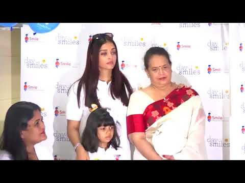 Actress Aishwarya Rai Bachchan cries because of her daughter scared by media full video