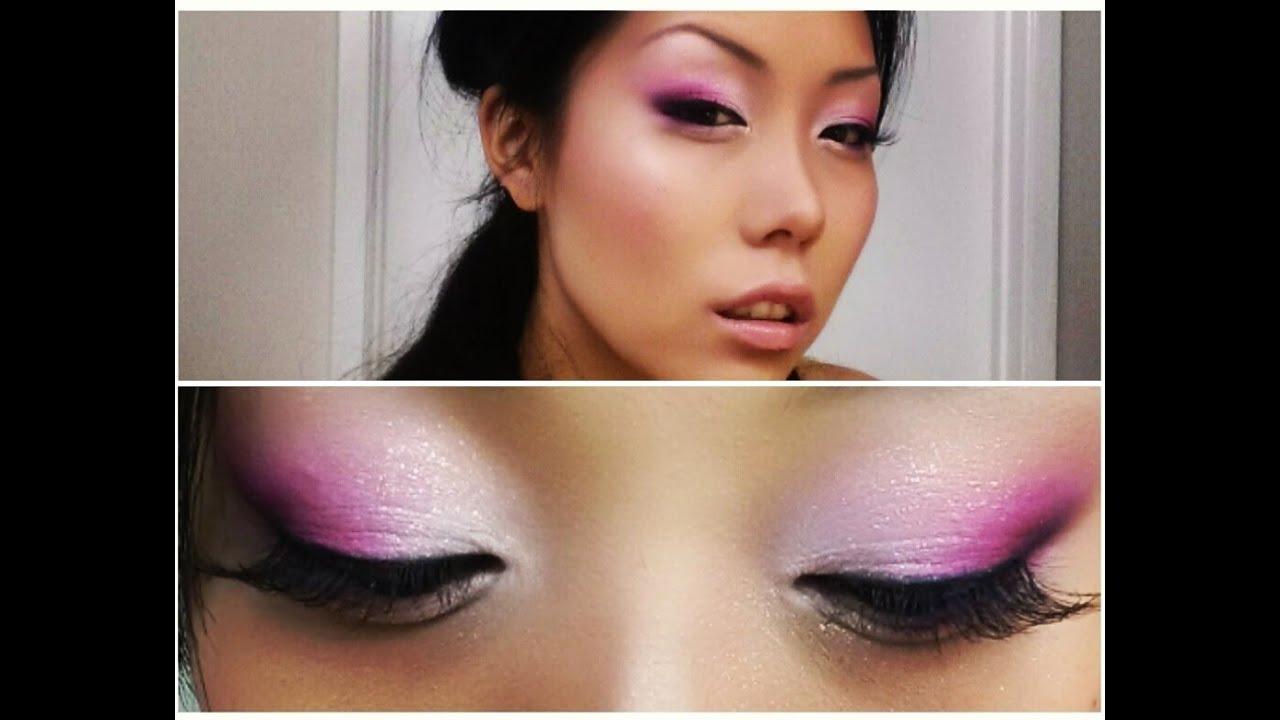 Tutorial Wedding Guest Makeup Look : Glitter Pink Smokey Eyeshadow Tutorial ( Wedding Guest ...