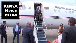 President Uhuru Kenyatta Arrival for AU Summit in Addis Ababa Ethiopia!!!