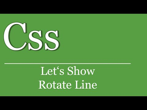 Let's Show #26 - CSS Linie Drehen | HTML | CSS Tutorial | Webkit | Transform