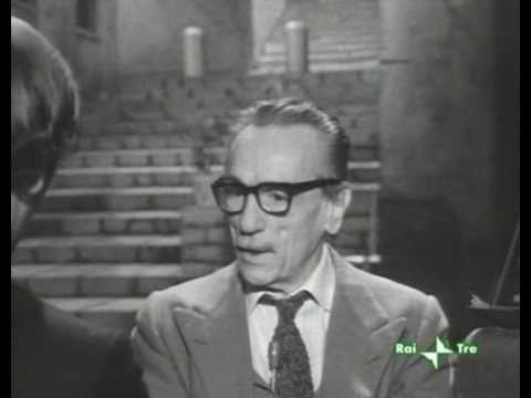 Eduardo de Filippo parla della morte di PierPaolo Pasolini
