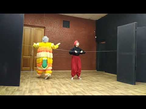 Клоунский номер Полунина и Делиева