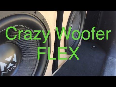 Rockville amps Slow Mo NVX woofer flex!!