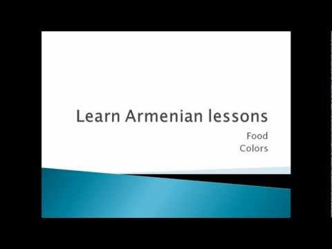 Learn to speak Armenian language (FOOD,COLORS)