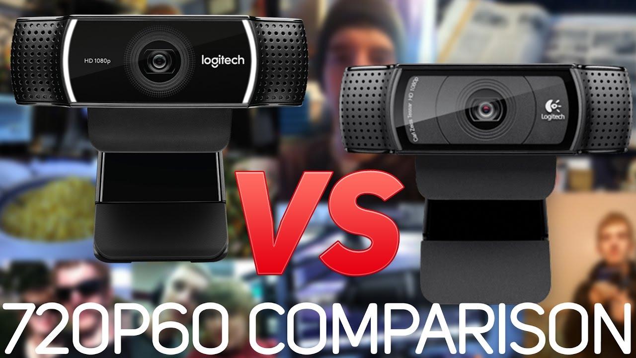 Logitech C920 vs  C922 Webcam Comparison (720p 60 FPS) // 60FPS Detection  Test