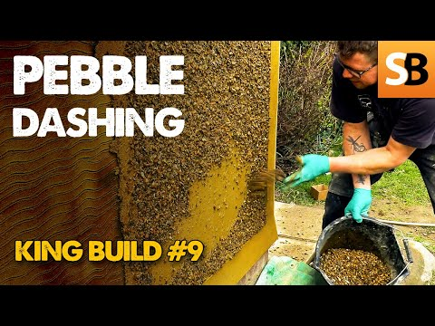 Pebble Dashing Rendered Walls - KB#9