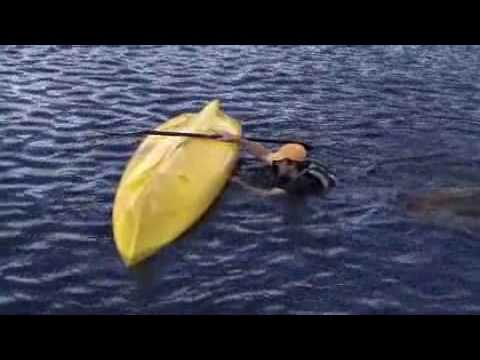 How To Re Enter A Sit On Top Kayak Youtube
