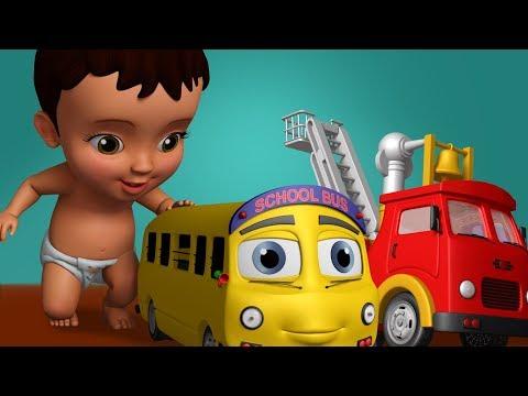 பலப்பல வண்டிகள் பலவிதம் என்னிடம் - Playing with Vehicles | Tamil Rhymes for Children | Infobells