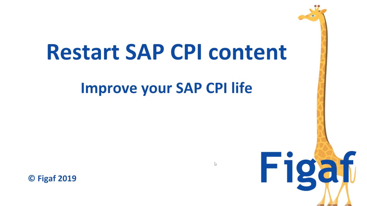 A different way to restart SAP CPI content - Figaf