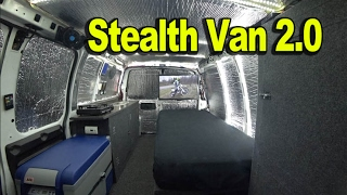 Homemade Off-Grid Stealth Camper Van - Carries Motorcycle Inside! Tiny House