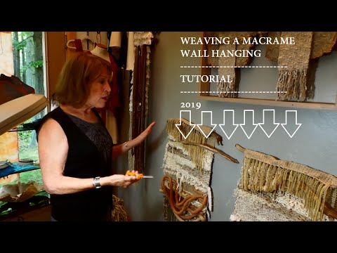 How to Weave a Wall Hanging   2019   Easy Tutorial for Macrame Wall Hanging   Driftwood Wall Hanging