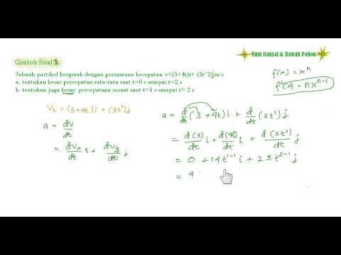 Fisika Dasar Contoh Soal Percepatan Sesaat 1 Youtube