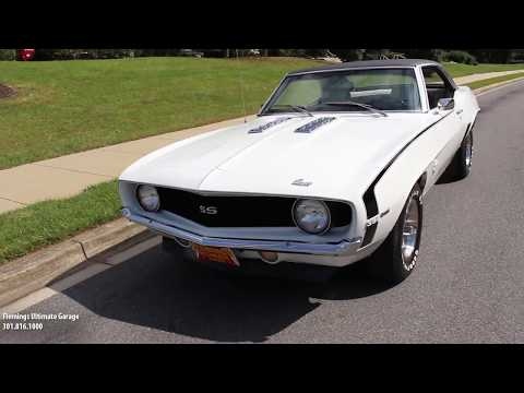 Sneak Preview of our '69 Camaro SS 396/375 HP for sale with driving sounds