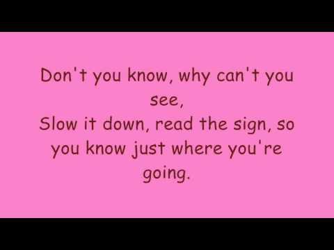 flirting signs for girls lyrics youtube free song