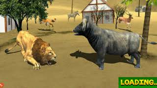 🐃African Buffalo Wild Bull VS Hungry Lion Simulator-By Clans