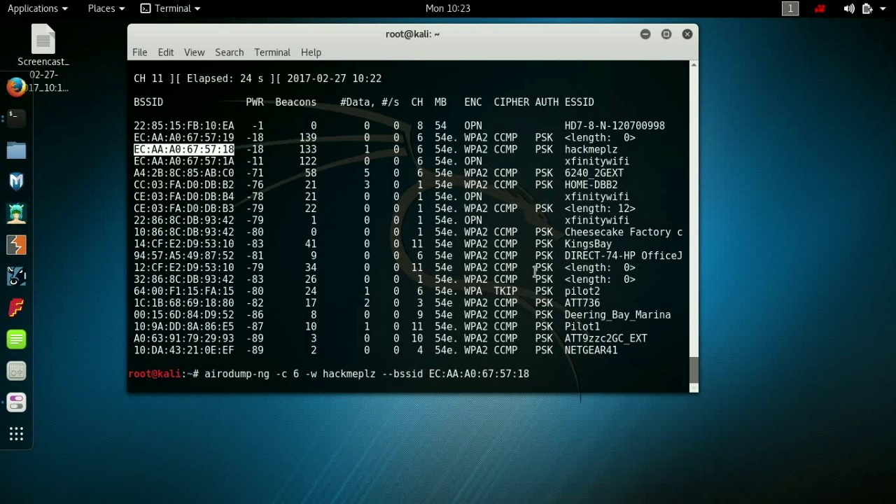 How to hack into a WPA/WPA2 secure Wifi network using Kali Linux