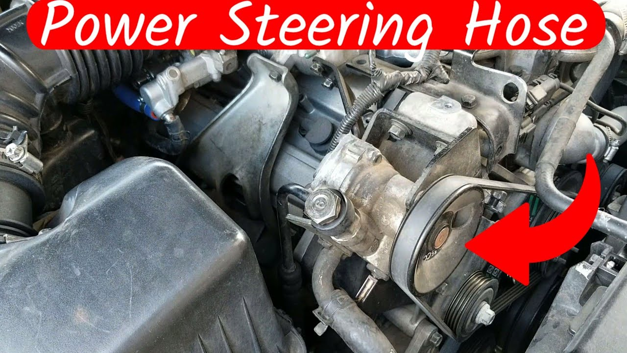 Kia Sorento High Pressure Power Steering Hose Replacement Youtube