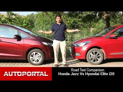 Honda Jazz Vs Hyundai Elite i20 Test Drive Comparison- Auto Portal