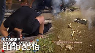 Aksi Berbahaya Oge Ball Crash Escape [Konser Musik EURO] [29 Mei 2016]