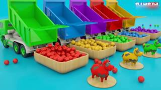 Learn Colors with Animals, 3D Video For #Kids | Kids Learning Colours | Icecream Animals Fruits