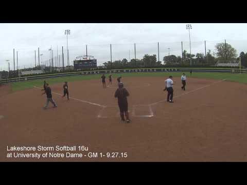Lakeshore Storm Softball 16u at University of Notre Dame Game 1