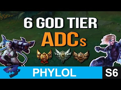 6 GOD TIER ADCs for LOWER ELO across all patches (League of Legends)