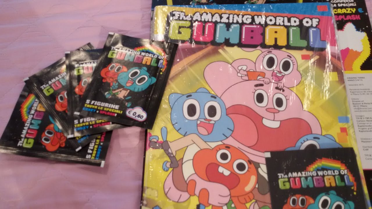 the amazing world of gumball sticker album youtube. Black Bedroom Furniture Sets. Home Design Ideas