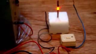 Cara Membuat Api dari Kumparan Kawat Listrik DC
