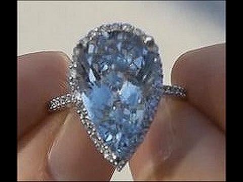 Circa 1950's Vintage Antique Art Deco Aquamarine Ring