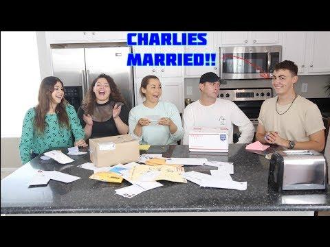 CHARLIES MARRIED! OPENING FAM/FAN MAIL! Just Ameerah, Jamileh Navalua, &  Charlie Navalua !