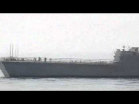 Raw Video: US Navy Ship Collides With Oil Tanker