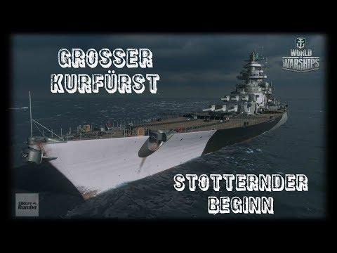 Let's Play World of Warships | Großer Kurfürst | Stotternder Start [ Gameplay - German  -Deutsch ]