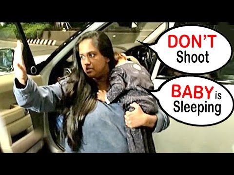 ANGRY Salman's Sister Arpita Warns Reporters 'DON'T SHOOT, My Baby Ahil is Sleeping'