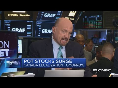 Short-term traders should sell into pot stocks surge, says Jim Cramer