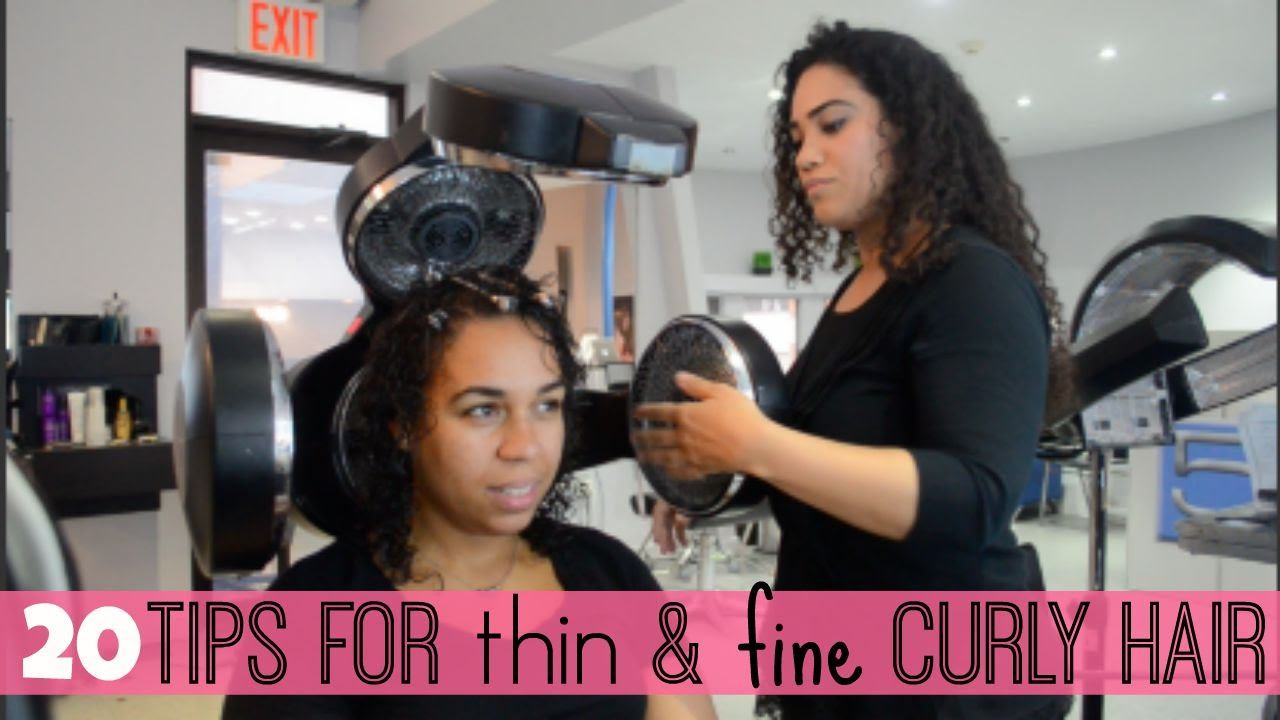 tips thin & fine curly hair