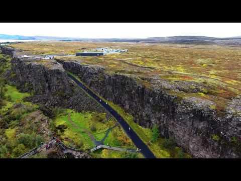 Drone Over Thingvellir, Iceland