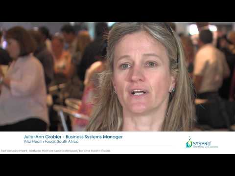 SYSPRO 7 - Vital Health Foods Testimonial